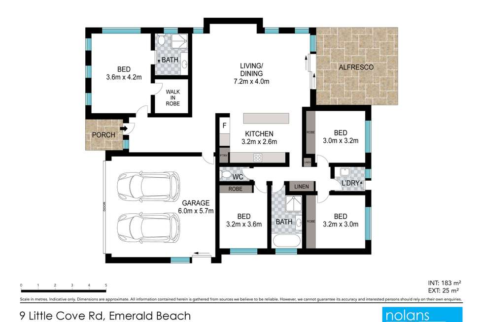Floorplan of Homely house listing, 9 Little Cove Road, Emerald Beach NSW 2456