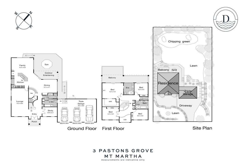 Floorplan of Homely house listing, 3 Pastons Grove, Mount Martha VIC 3934