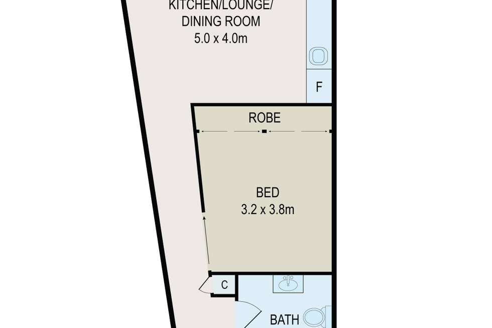 Floorplan of Homely apartment listing, 22/30-34 Chalmers Street, Surry Hills NSW 2010