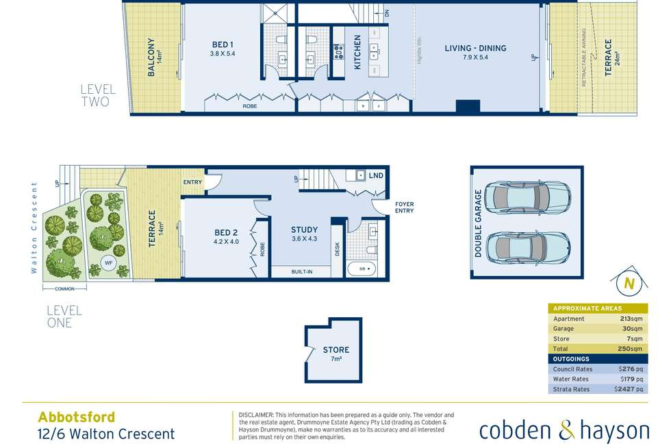 Floorplan of Homely apartment listing, 12/6 Walton Crescent, Abbotsford NSW 2046