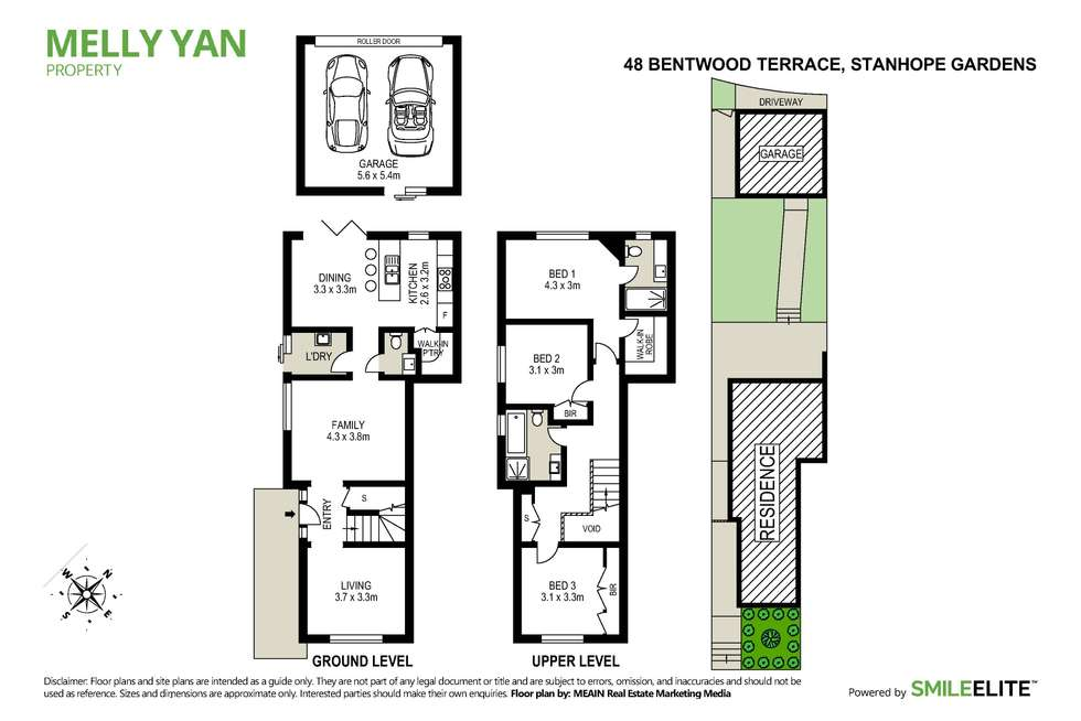 Floorplan of Homely semiDetached listing, 48 Bentwood Terrace, Stanhope Gardens NSW 2768