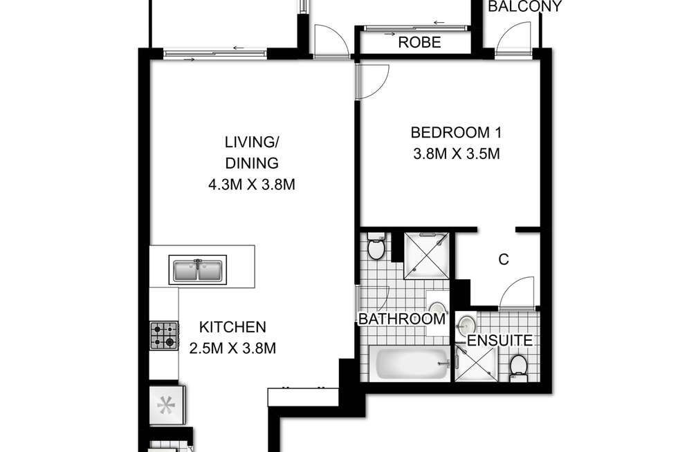 Floorplan of Homely apartment listing, 603/153 Parramatta Road, Homebush NSW 2140