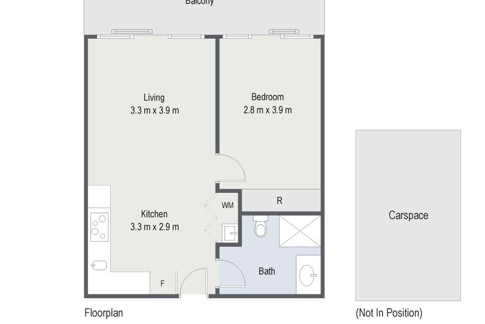 Floorplan of Homely apartment listing, 110/33-35 Breese Street, Brunswick VIC 3056