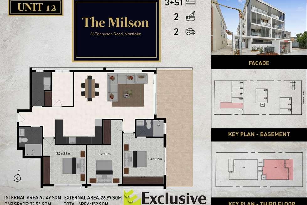 Floorplan of Homely apartment listing, 12/36 Tennyson Road, Mortlake NSW 2137
