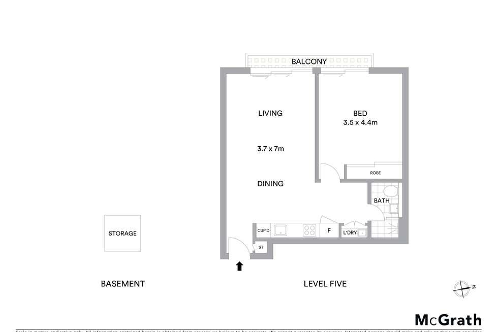 Floorplan of Homely apartment listing, 504/45 Macquarie Street, Parramatta NSW 2150