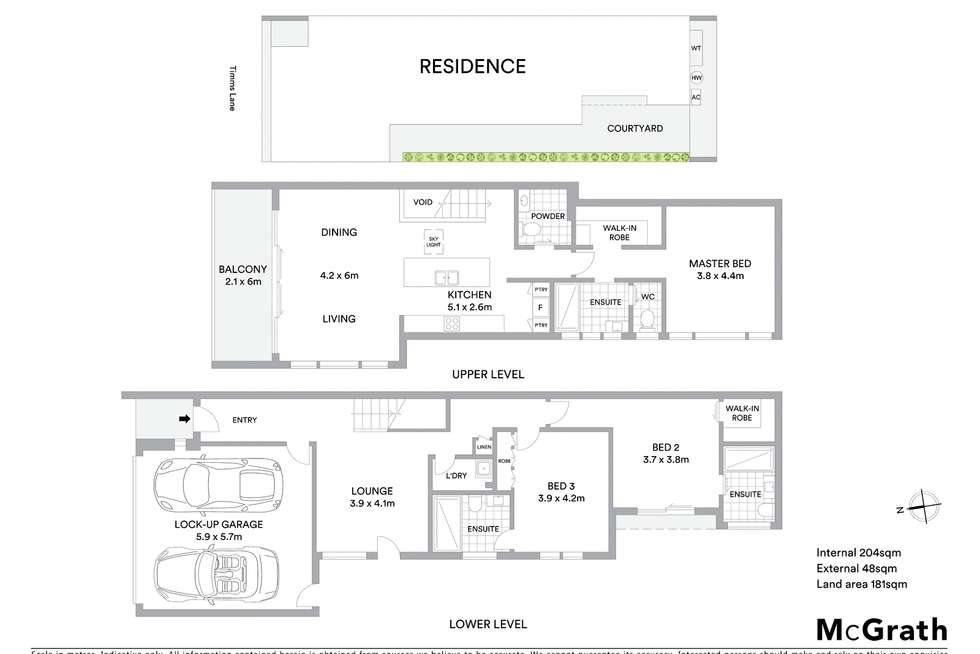Floorplan of Homely house listing, 6 Timms Lane, Geelong West VIC 3218