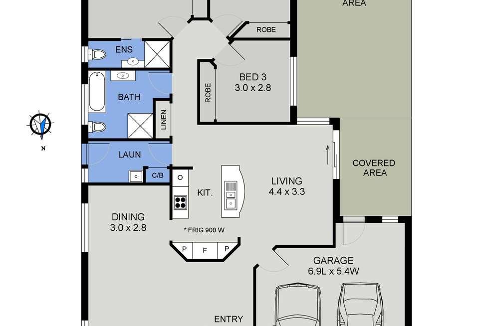 Floorplan of Homely villa listing, 3/4 Fernhill Road, Port Macquarie NSW 2444