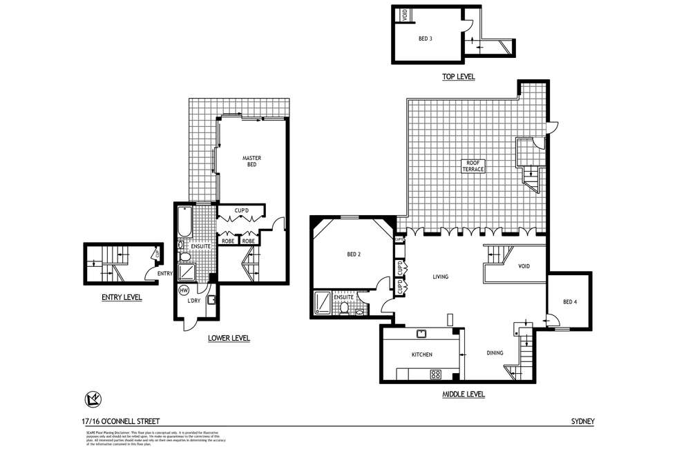 Floorplan of Homely apartment listing, 17/16 O'Connell Street, Sydney NSW 2000