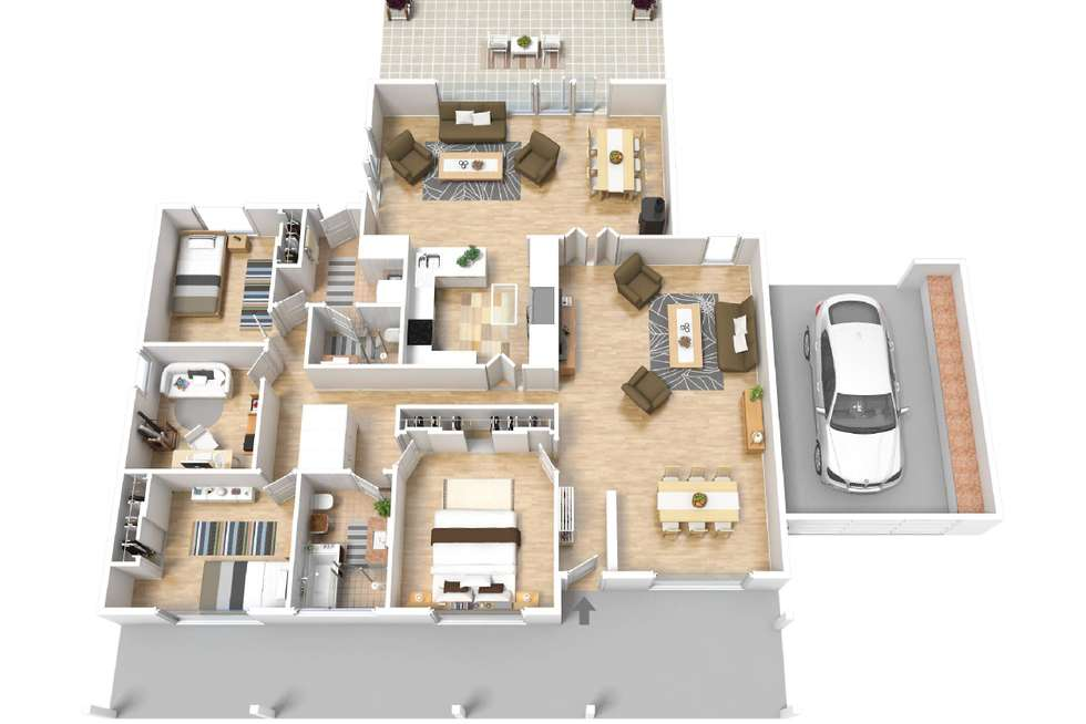 Floorplan of Homely house listing, 45 Davenport Terrace, Seaview Downs SA 5049
