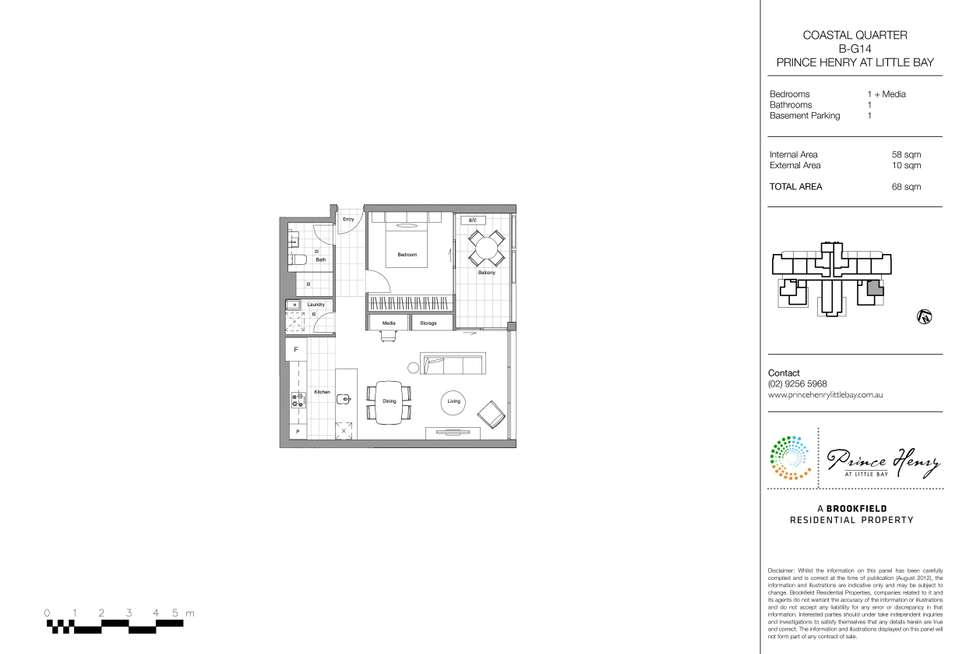 Floorplan of Homely apartment listing, 114/1 Fleming Street, Little Bay NSW 2036