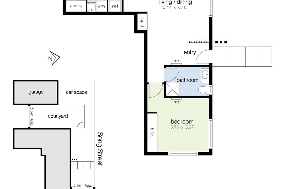 Floorplan of Homely apartment listing, 3 Song Street, Sunshine West VIC 3020