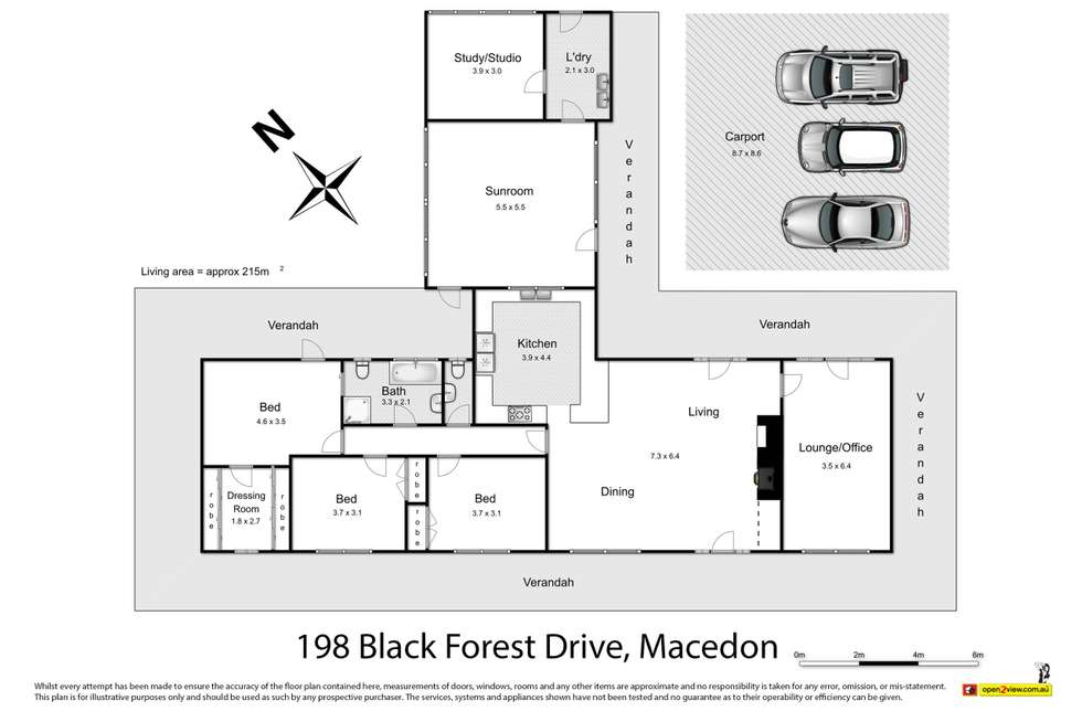Floorplan of Homely house listing, 198 Black Forest Drive, Macedon VIC 3440