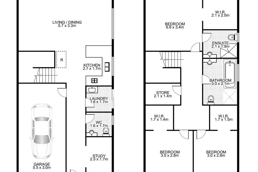 Floorplan of Homely house listing, 6 Culgoa Bend, Villawood NSW 2163