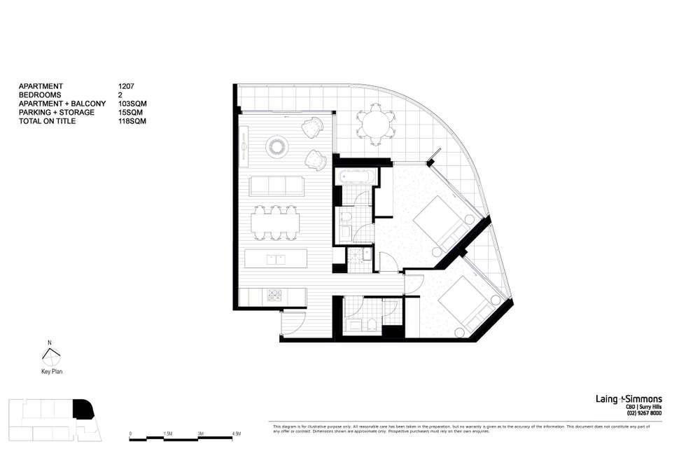 Floorplan of Homely apartment listing, 1207/81 Harbour Street, Sydney NSW 2000
