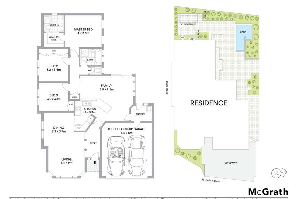 Floorplan of Homely townhouse listing, 1/2 Dines Place, Bruce ACT 2617