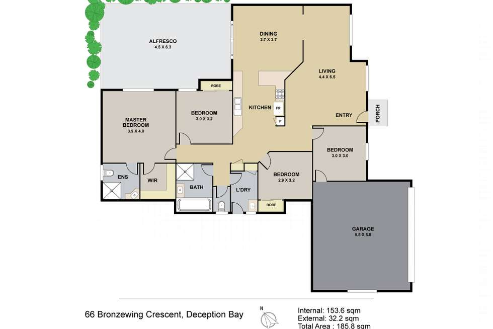 Floorplan of Homely house listing, 66 Bronzewing Crescent, Deception Bay QLD 4508