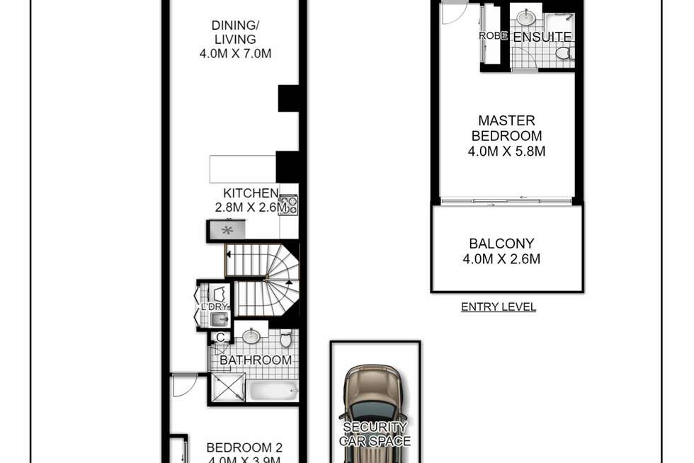 Floorplan of Homely apartment listing, 136/10 Lachlan Street, Waterloo NSW 2017