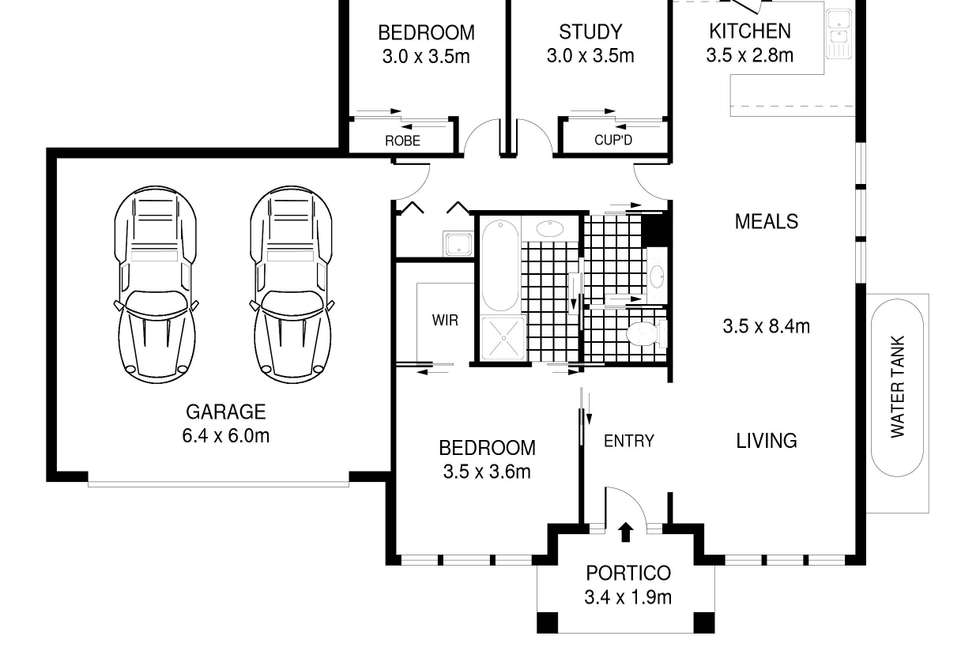 Floorplan of Homely townhouse listing, 6/393 Old Melbourne Road, Ballan VIC 3342