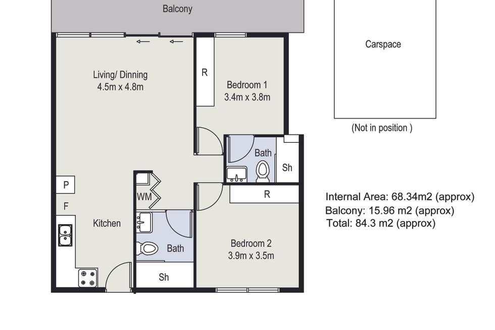 Floorplan of Homely apartment listing, 401/152 Peel Street, Windsor VIC 3181