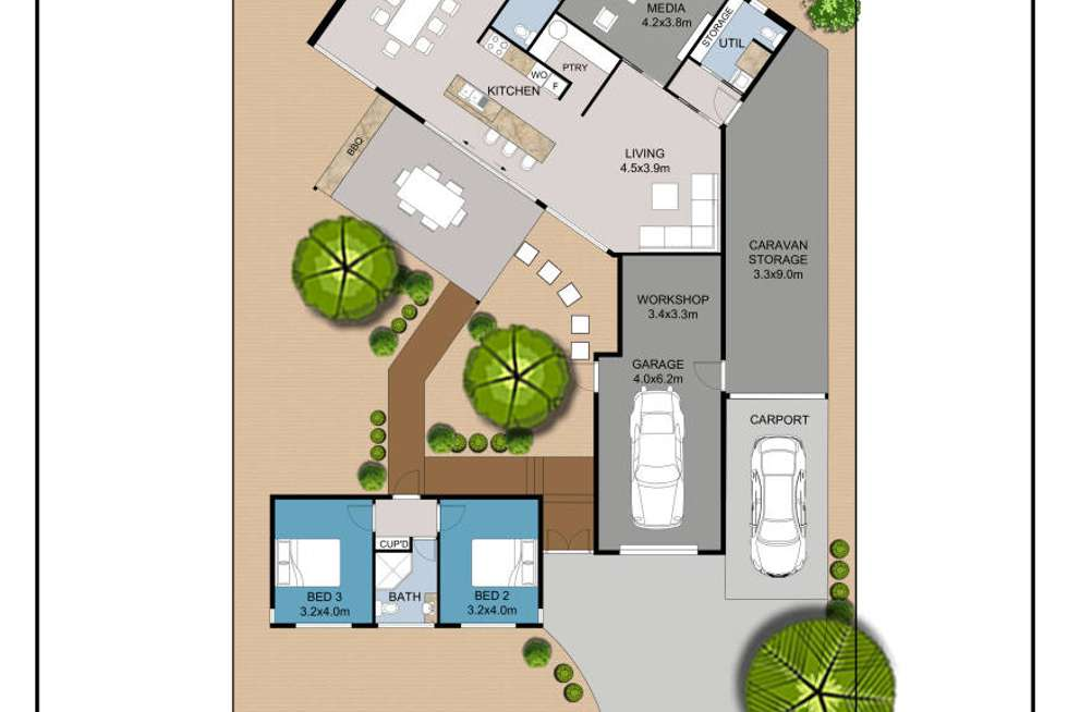 Floorplan of Homely house listing, 3 Belpitt Place, Sanctuary Point NSW 2540