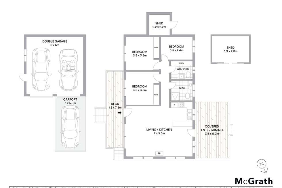 Floorplan of Homely house listing, 2 Stella Way, Lake Tabourie NSW 2539