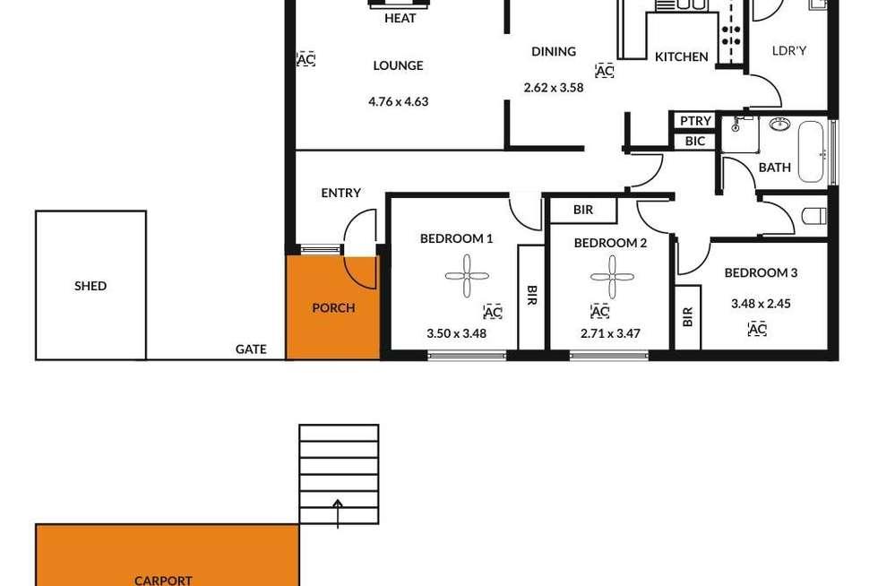 Floorplan of Homely house listing, 1 Ridgefield Avenue, Seaview Downs SA 5049