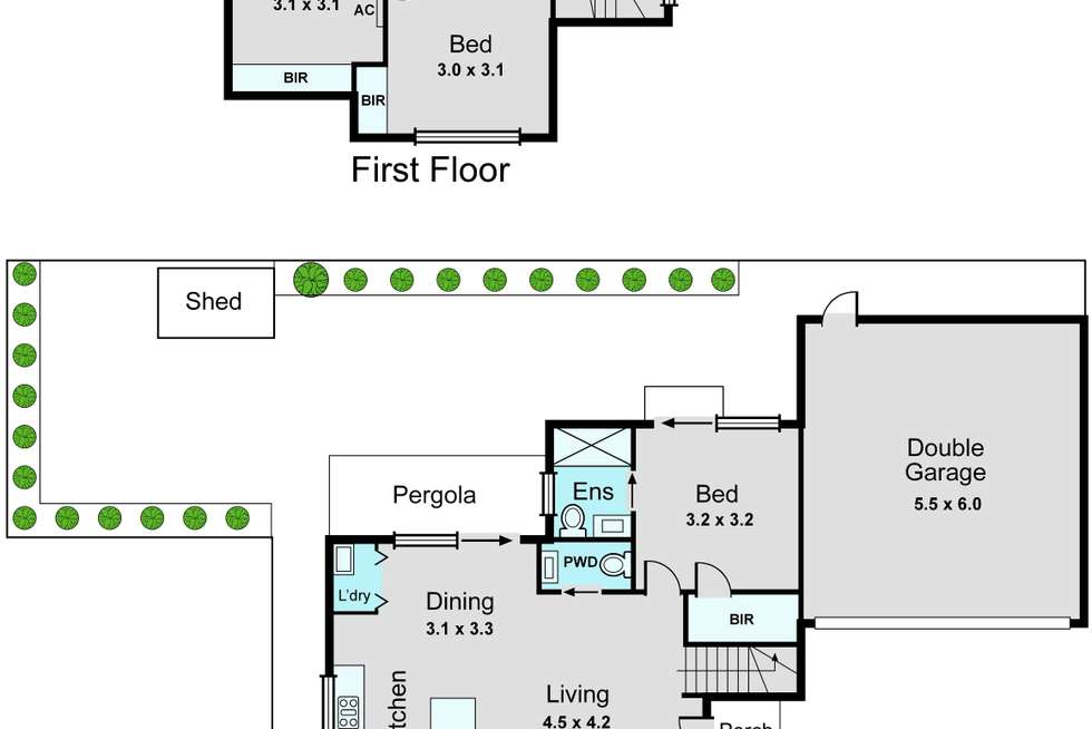 Floorplan of Homely townhouse listing, 2/27 Cameron Avenue, Oakleigh South VIC 3167