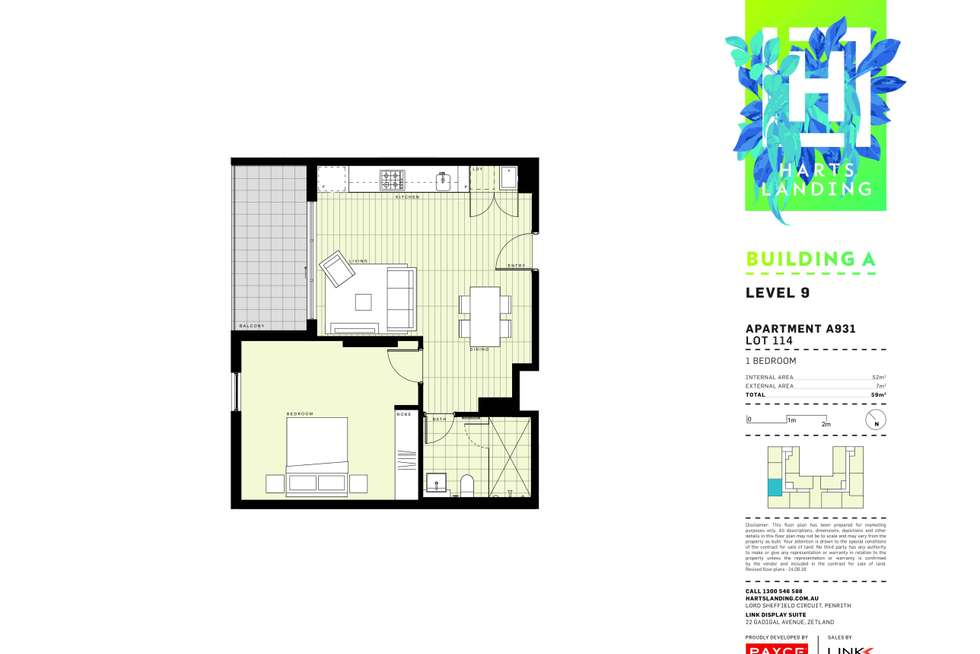 Floorplan of Homely apartment listing, 931/1-39 Lord Sheffield Circuit, Penrith NSW 2750