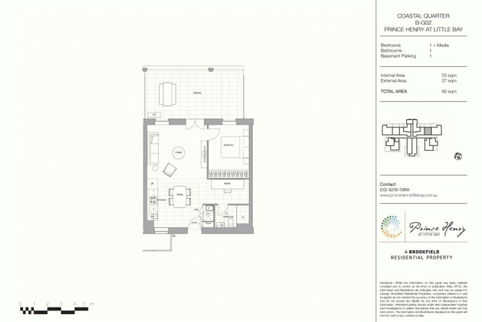 Floorplan of Homely apartment listing, 2/1 Flemming Street, Little Bay NSW 2036