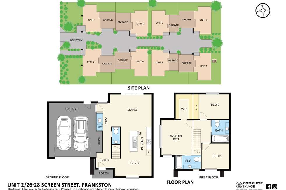 Floorplan of Homely townhouse listing, 2 or 3/26-28 Screen Street, Frankston VIC 3199