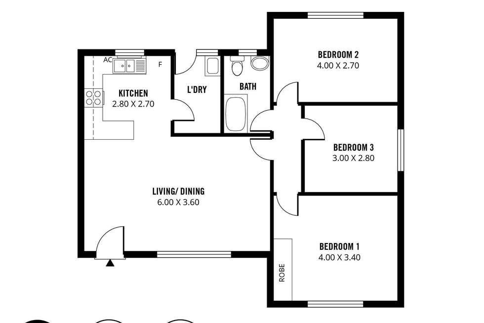 Floorplan of Homely unit listing, 4/379 Marion Road, Plympton SA 5038