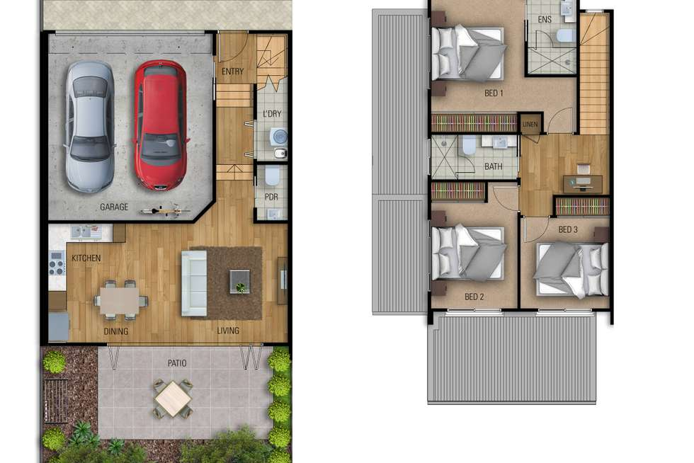 Floorplan of Homely townhouse listing, 4d/27 Herbertson Road, Carina Heights QLD 4152