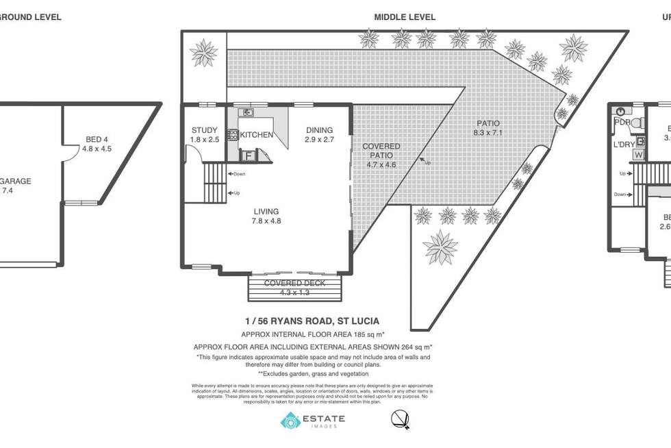 Floorplan of Homely townhouse listing, 1/56 Ryans Road, St Lucia QLD 4067