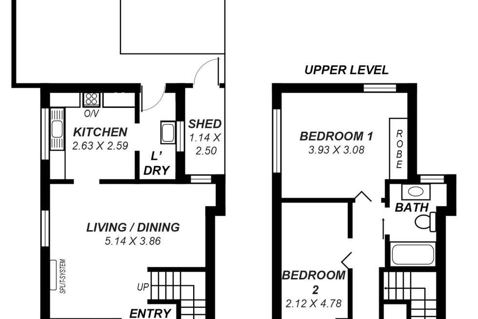 Floorplan of Homely unit listing, 2/2 St Annes Terrace, Glenelg North SA 5045