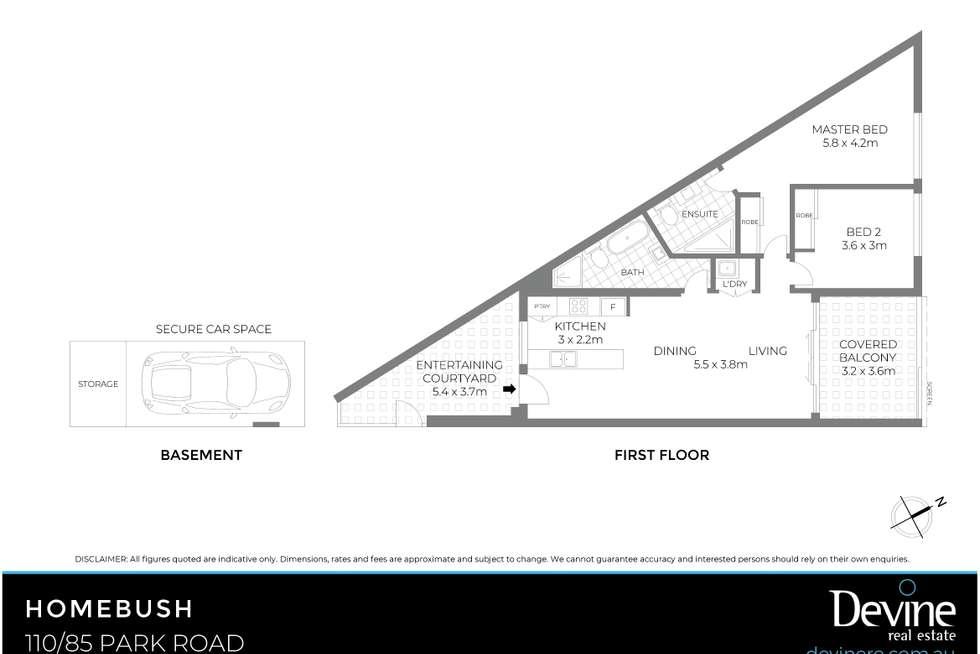 Floorplan of Homely apartment listing, 110/85 Park Road, Homebush NSW 2140