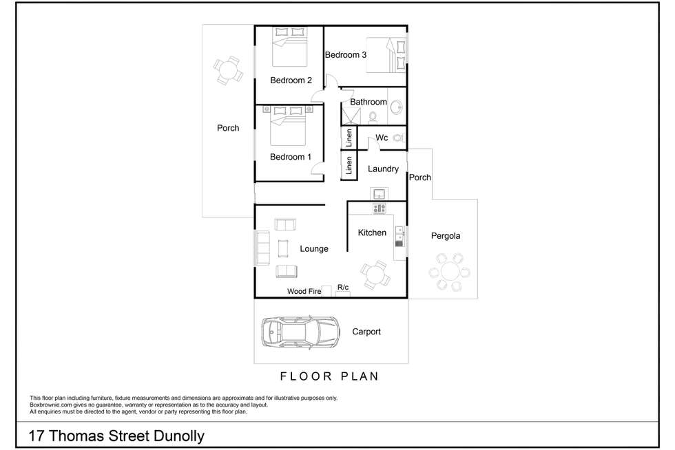 Floorplan of Homely house listing, 17 Thomas Street, Dunolly VIC 3472