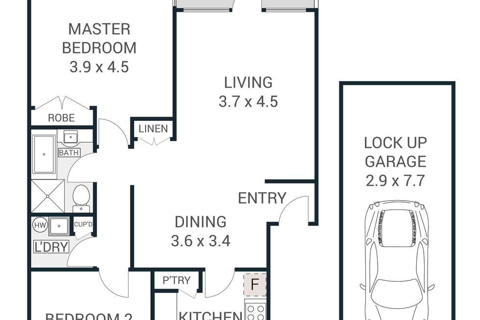 Floorplan of Homely apartment listing, 5/24-32 Edensor Street, Epping NSW 2121