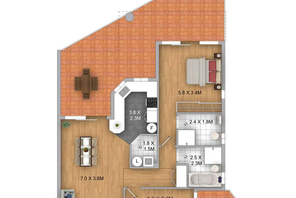 Floorplan of Homely apartment listing, 9/39-41 Victoria Road, Parramatta NSW 2150