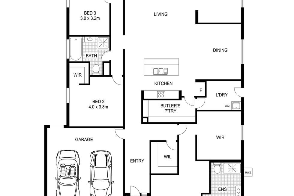 Floorplan of Homely house listing, 17 Cuttlefish Circuit, Tarneit VIC 3029