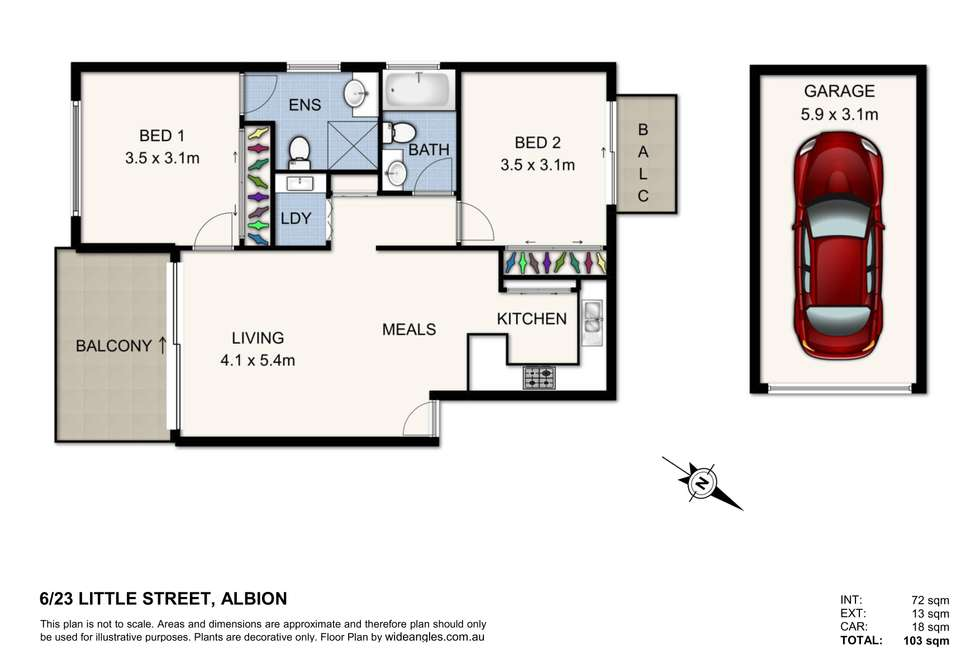 Floorplan of Homely unit listing, 6/23 Little Street, Albion QLD 4010