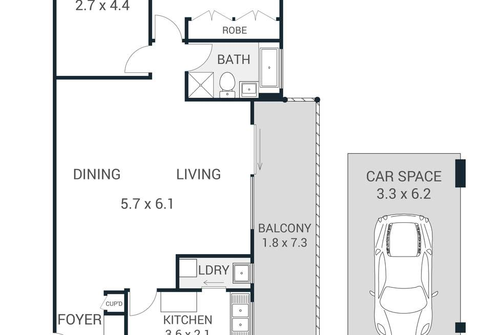 Floorplan of Homely apartment listing, 2/2-4 Edensor Street, Epping NSW 2121