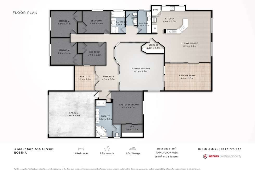 Floorplan of Homely house listing, 3 Mountain Ash Circuit, Robina QLD 4226