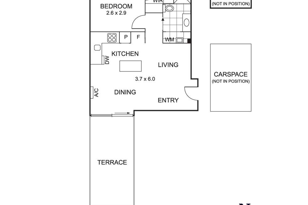 Floorplan of Homely apartment listing, 111/6-8 Gamble Street, Brunswick East VIC 3057