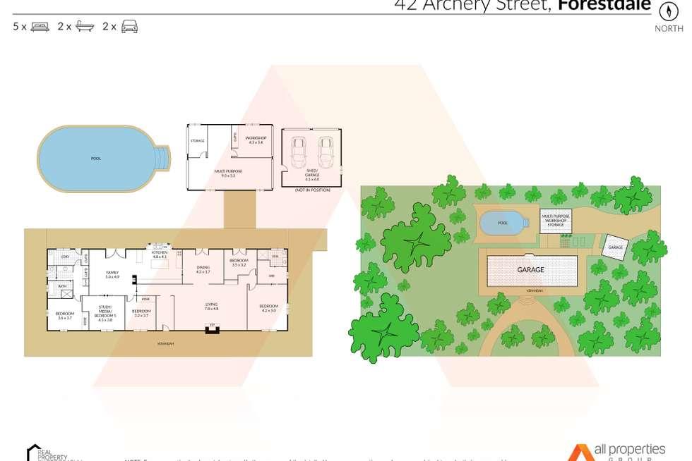 Floorplan of Homely acreageSemiRural listing, 42-48 Archery Street, Forestdale QLD 4118