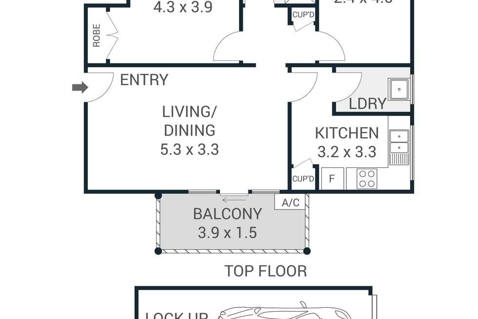 Floorplan of Homely apartment listing, 7/33 Khartoum Road, Macquarie Park NSW 2113