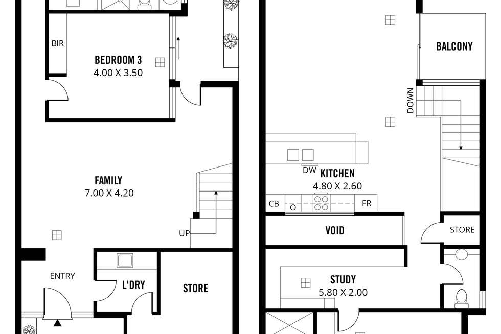 Floorplan of Homely house listing, 55 Russell Street, Adelaide SA 5000