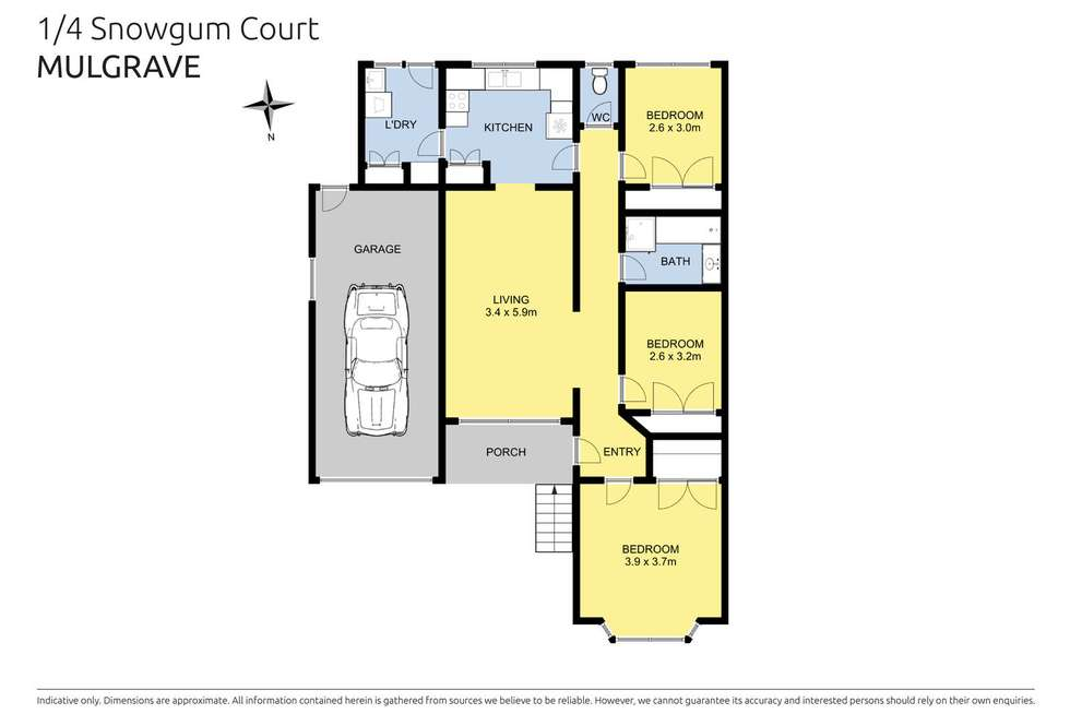 Floorplan of Homely house listing, 1/4 Snow Gum Court, Mulgrave VIC 3170