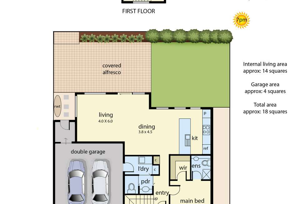 Floorplan of Homely townhouse listing, 2/29 Culcairn Drive, Frankston South VIC 3199