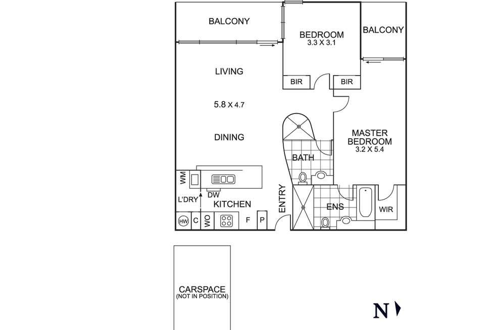 Floorplan of Homely apartment listing, 202/668 Swanston Street, Carlton VIC 3053