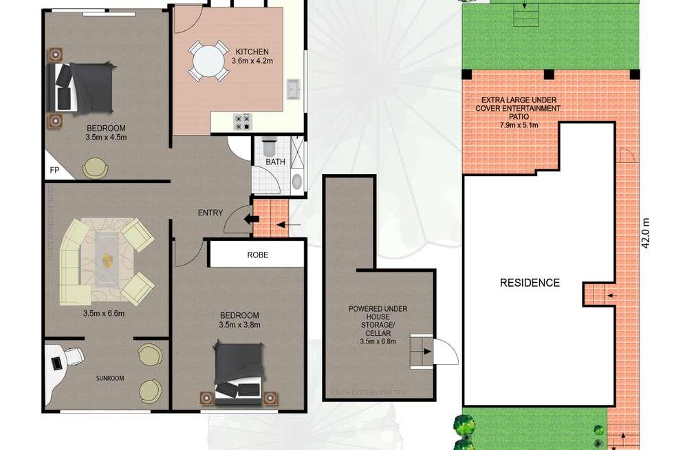 Floorplan of Homely semiDetached listing, 18 Boomerang Street, Maroubra NSW 2035
